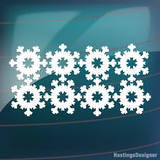 8x S2 SNOWFLAKE CHRISTMAS Xmas Decoration Car,Van,Window Vinyl Decal Sticker