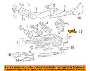 Mercedes MERCEDES-BENZ OEM CL500 Seat Track-Track Cover Right 21591910209B51