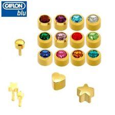 Pendientes de botón de bisutería de oro rosa