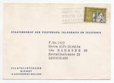 1964 NETHERLANDS Cover THE HAGUE to HAMBURG GERMANY SG969 Giebitz SLOGAN
