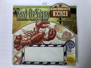 Yard DeSigns **RED LOBSTER** Magnetic Yard Art Address Marker BRAND NEW