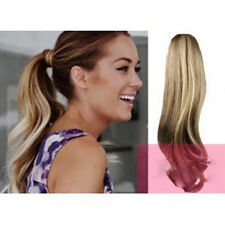 """16""""-24' Clip In Pony Tail Wrap Around Ponytail  100% Real  human Hair Extension"""