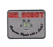 MR ROBOT FSOCIETY TV SHOW acu EMBROIDERED IRON ON PATCH
