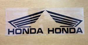 A Pair Rearview Mirror Car body /Motorcycle Stickers Decals For Honda(Black)