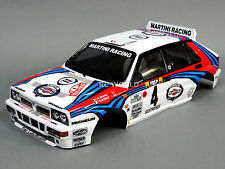 1/10 RC Car BODY Shell LANCIA DELTA HF INTEGRALE RALLY 190mm w/Light Buckets