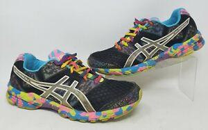 Asics Gel Noosa Tri 8 Running Shoes Sz 9.5 Multicolor Pink Purple Black Blue Fun