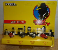ERTL - Dick Tracy Micro Size Tess, Tracy, Police & Itchy's Car Set of 4