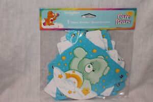 NEW  IN PACKAGE CARE BEARS 1st  BIRTHDAY BANNER GREEN PARTY SUPPLIES