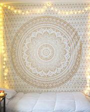 Twin Golden Mandala Ombre Urban Tapestry Art Wall Hangings Bohemian Hippie Throw