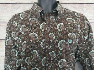 Cinch Men/'s Brown Paisley L//S Shirt MTW1104868