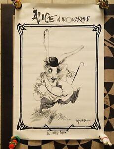 Ralph Steadman Alice In Wonderland The White Rabbit Poster 24x36 Original