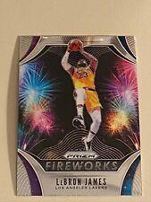 2019/20 Panini Prizm LeBron James Fireworks Insert # 2. LA Lakers