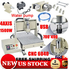 1.5KW 4Axis USB CNC Router 6040 Engraver Machine Mill Drill Woodworking 3D Carve