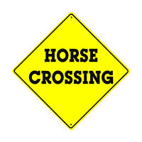 Caution Horse Crossing Animal Xing Metal Aluminum Novelty Road Sign 12x12