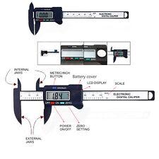 """4""""LCD Digital Electronic Gauge Caliper Fiber Vernier Micrometer Measurement"""