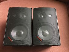 Pyramid 400W Home Office Speakers 3-Way  Black Pair