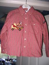 Disney Store Pooh & Tigger Boys Embroidered Check Shirt 2/3 BRAND NEW!!