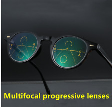Retro Round Anti-blue light Multifocal progressive for Reading distance glasses