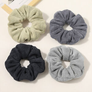 Solid Soft Towel Scrunchies Hair Ring Rope Elastic Hair Ties Hair Accessories