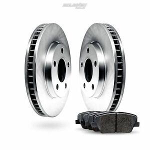 Fit Mercedes-Benz 450SLC, 280SE Front  Blank Brake Rotors+Ceramic Brake Pads