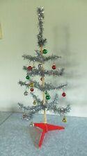 6 Colgantes de árbol de Navidad Tono Plata Antigua CT240