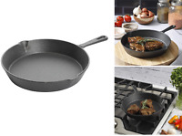 Pre-Seasoned Cast Iron Skillet Chef's Classic 10 Inch Round Fry Pan for Kitchen