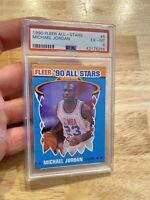 Michael Jordan PSA 6 Collector Card Fleer All Stars #5 Last Dance INVEST 1990 NR