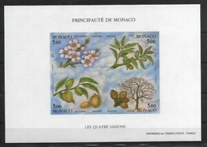 SMT, MONACO,1994,The Four Seasons, Souvenir / sheet IMPERF, MNH