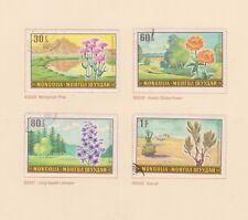 (K115-16) 1969 Mongolia 4stamps Landscapes & flowers (P)