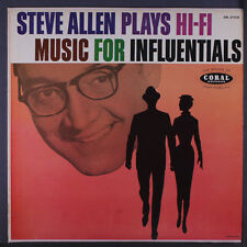 STEVE ALLEN: Plays Hi-fi Music For Influentials LP (Mono, 2 neat clear taped se