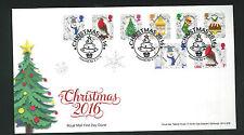 2016-Christmas FDC  Set Treesmill, Par Postmark -Sent Post Free