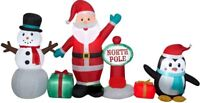 CHRISTMAS 9 FT SANTA NORTH POLE SCENE PENGUIN  AIRBLOWN INFLATABLE YARD GEMMY