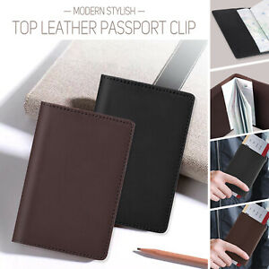 Passport Holders Cover Case Bag ID Protector Cards Genuine Leather Travel UK/EU