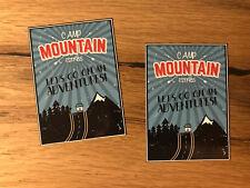 2x Mountain Reise Aufkleber Koffer Backpacker Travel Work Retro Oldtimer TR007
