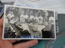 AMAZING POSTCARD  WAR WOUNDED AT TEA LENZIE   DUNBARTON  WW1  HOME FRONT