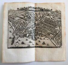 1709 Rogissart: Mappa Pianta di Napoli Naples Campania