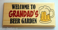 Welcome to Grandads Beer Garden Plaque / Sign / Gift - Dad BBQ Summer Father 213