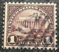SCOTT #571 MINT  NH  1923  DOLLAR  LINCOLN MEMORIAL US STAMP Great Margins CV$30
