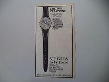 advertising Pubblicità 1965 OROLOGIO VEGLIA SWISS DIAMATIC