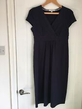Boden Size 12L Navy Cotton Dress In Good Condition