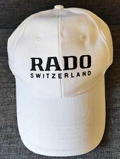 Authentic Rado Watch Baseball Cap, Hat, White
