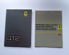 FERRARI 412 OWNERS MANUAL + DEALER '86 / USO E MANUTENZIONE + RETE VENDITA