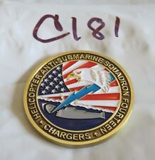HELICOPTER ANTI SUB SQUADRON 14 CHARGERS CHALLENGE COIN C181