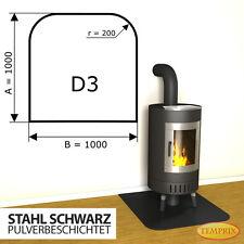 Kaminbodenplatte Funkenschutz ✔ Ofenplatte ✔ Kaminofenplatte Stahl schwarz D3