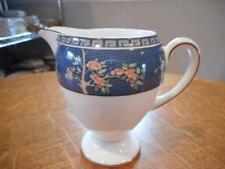 Wedgwood Blue Siam bone china Leigh shape creamer - EXCELLENT!!