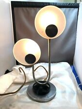 Rare Art Deco Chrome & Frosted Glass Lamp Levitson Original Table Lamp Modernist