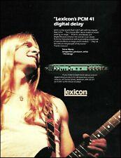 Steve Morse 1983 Lexicon PCM 41 digital delay advertisement 8 x 11 ad print