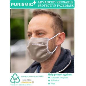 Purismio◊ Advanced Reusable Protective Fashion Face Mask - Latte