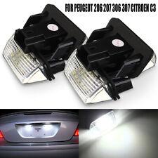 2pz Luce Targa Led Per Peugeot 206 207 307 306 308 Citroen C3 C4 C5 Xsara Saxo