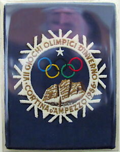 1956 WINTER OLYMPICS VII Cortina d'Ampezzo, Italy OLYMPIC PATCH Willabee & Ward